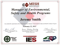 M.E.S.H. Certificate