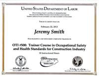 OSHA-500-cert
